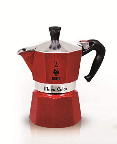 BIALETTI Moka Express Emotion RED 6 Cups Coffee Maker