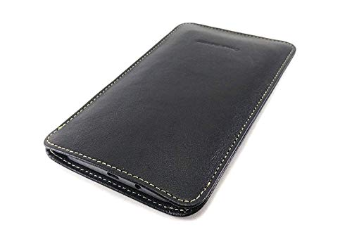 Chalk Factory Genuine Leather Mobile Case, Pouch for Samsung Galaxy M Series (M30s, Black)