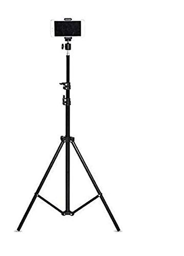 BONDBEATZ 7.5 feet Portable and Foldable Tripod with Mobile Clip Holder Bracket & Three-Dimensional Head for Making Tiktok Videos S25 Tripod Stand
