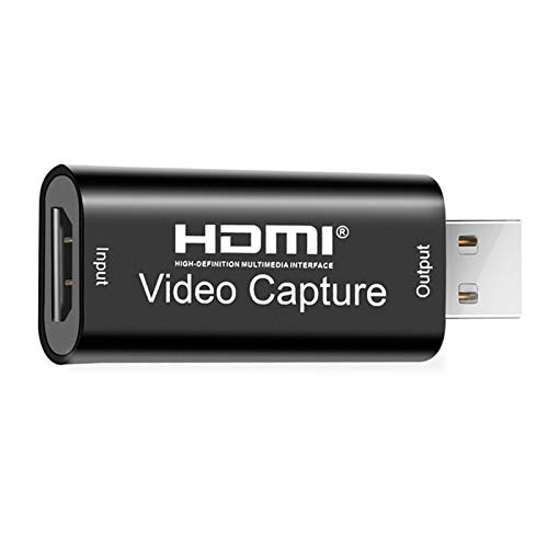 Microware Audio Video Capture Cards HDMI to USB 1080p 30fps USB 2.0 Record via DSLR Camcorder Action Cam for Gaming, Live Broadcasting, Streaming - Black