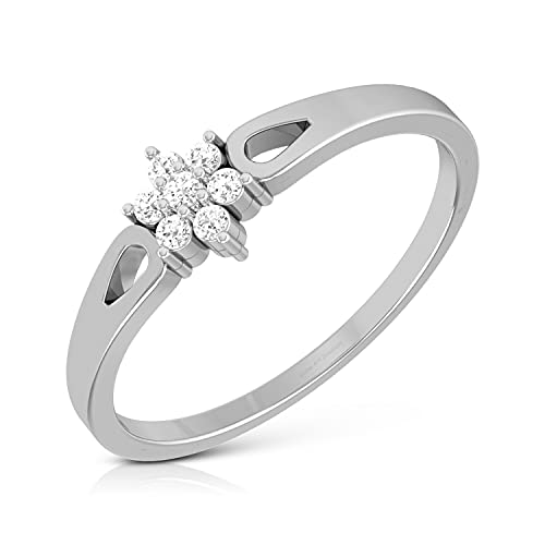DIVINE ART JEWELLERY 0.08cttw Simulated Diamond Promise Ring For Her Solid 925 Sterling Silver Diamond Engagement Ring (7)