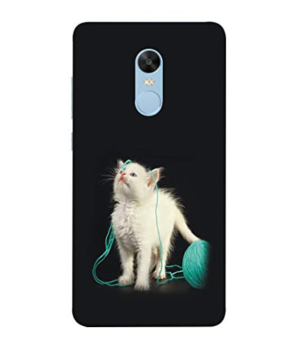 S SMARTY Designer Printed Plastic Mobile Back Case Cover for Redmi Note 4 (White Cat)
