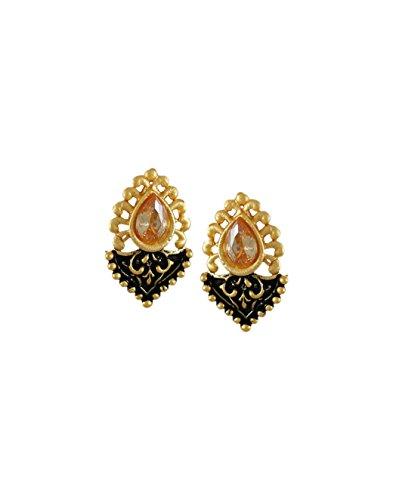 Zaveri Pearls Dark Antique Stud Earring for Women - ZPFK6168