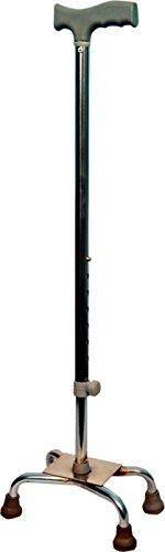 Asr Surgical 4 Leg Walking Stick (Silver)