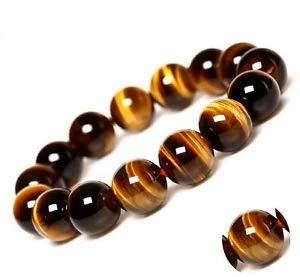 "GEM Beautiful 12mm Natural African roar Tiger Eye Stone Beads Jewelry Bracelet 7.5"""