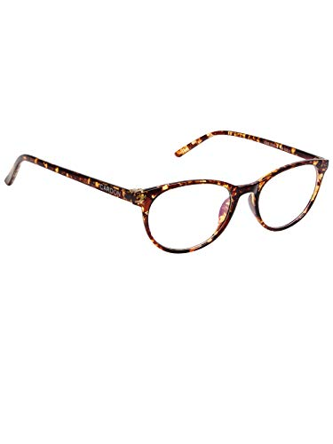 Cardon Round Spectacles Frame With Anti-glare Blue Ray Cut Zero Power Glasses for Eye Protection from Computer Tablet Laptop Mobile/Eyeglass for Unisex [Tortoise]