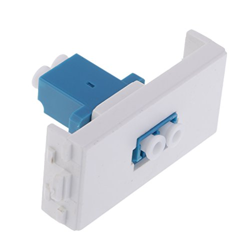 Global Mantra LC Connector Wall Socket Module Female Fiber Optic Wallplate with Frame Directly Plug Type