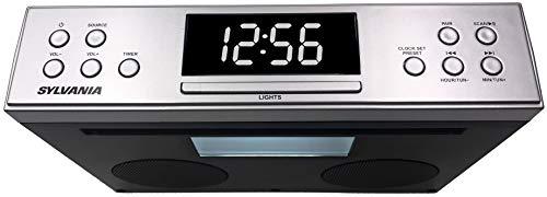 SYLVANIA SKCR2810BT Bluetooth(R) Under-Cabinet Kitchen Radio