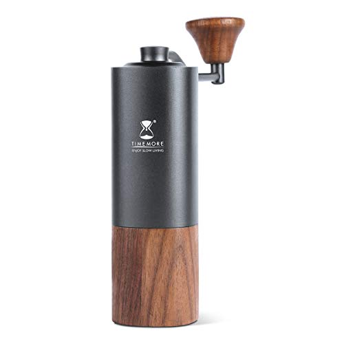 TIMEMORE Chestnut G1 Manual Coffee Grinder with Adjustable Setting; Unibody-Design of Aluminum and Walnut Wood | Pour Coffee; Espresso; French Press
