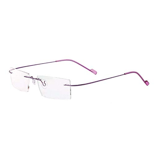 Aarav Rimless Nonfoldable Spectacle Optical Frame (pink)