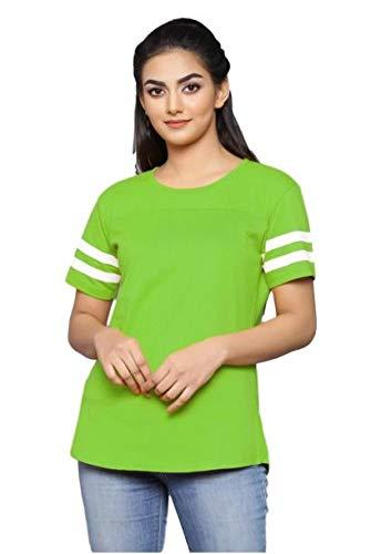 Vijay Fashion Women Tshirt (Small, Neo Green)