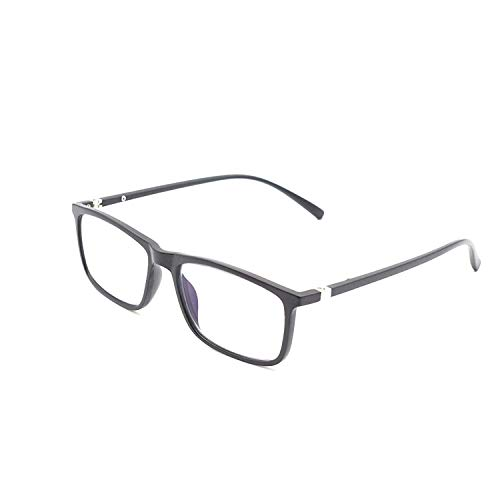 Optify® Rectangle Unisex Blue Cut Spectacles With Anti-glare for Eye Protection (Zero Power, Black)