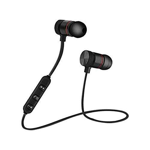YUVI TRADERS Wireless Magnet Bluetooth Earphone Headphone with Mic, Sweatproof Sports Headset, Best for Running and Gym, Stereo Sound Quality for All Smartphones