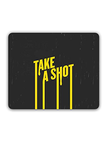 Madanyu Designer Mousepad Non-Slip Rubber Base for Gamers - HD Print - Take a Shot Typography