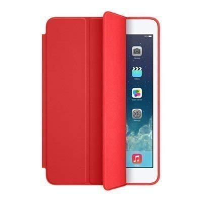 Shoppers Point Ultra Thin Smart and Foldable Leather Flip Case Cover with Magnetic Sensor Auto Wake and Sleep Function for All Smartphones (Red)