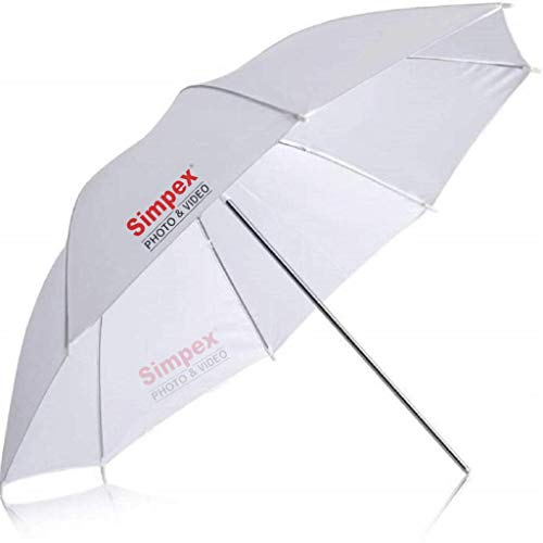 Simpex Photography Umbrella White 100 cm for Studio Light, Video Light and Speedlite for Photography and Videography
