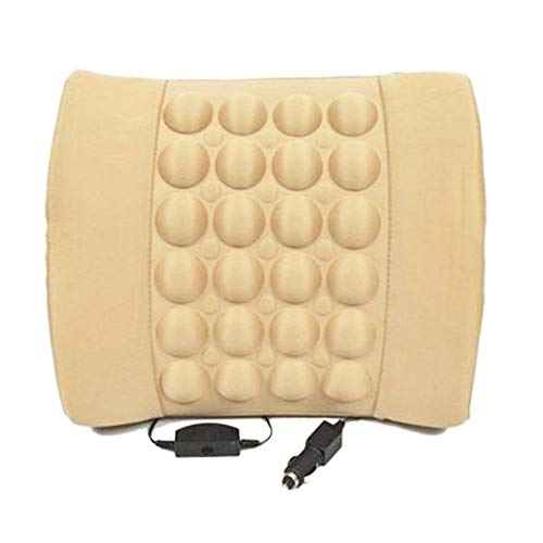HUUSO Car Seat Vibrating Massage Cushion Beige for Tata Indica Vista