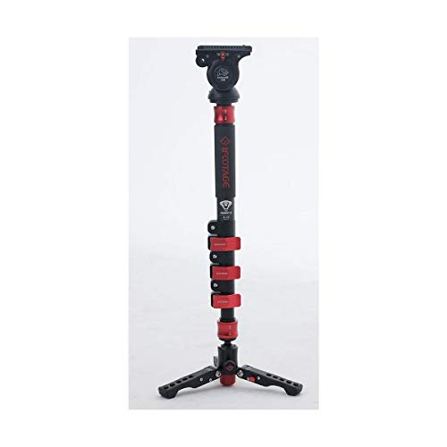 iFootage Red Dot Cobra 2 C120 Carbon Fiber Monopod with Low Profile Tripod