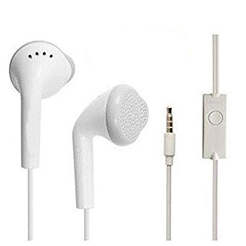 Best online products™ in-Ear Hands-Free Headphone Wired with Mic, with 3.5 mm Jack, Calling Function, Microphone, Bass, for All Andriod Smartphone (White)