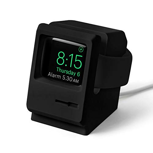 DailyObjects Retro PC - Night Stand Dock Designed for Apple Watch - Black