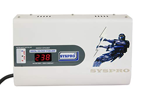 SYSPRO Captain Pro Voltage Stabilizer for Washing Machine, Microwave Oven, Treadmill Working Range (150v - 300v)