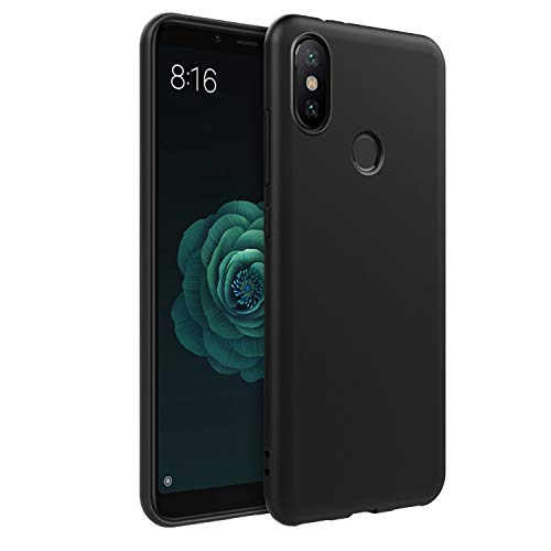 Jump Start Ultra Thin Phone Shell Anti-Scratches Shockproof Lightweight Soft Black TPU Protective Case Cover for Xiaomi Mi A2