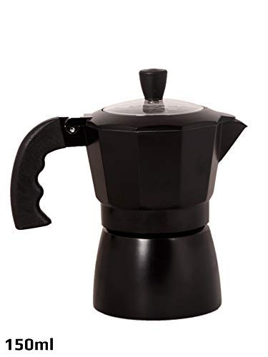 3d Creations Aluminium 3 Cups Aluminum Polished South Indian Filter Degree Kaapi Coffee Machine (Black with Transparent Top)