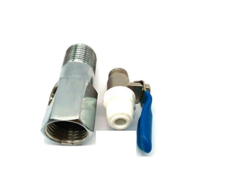 """AAMERIA RO SS Inlet +Valve/Connector Ro/Uv/Water Filter Purifier 1/4"""" Size (D.V.Set)"""