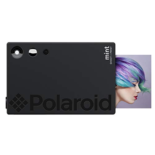 Polaroid Mint Instant Print Digital Camera (Black), Prints on Zink 2x3 Sticky-Backed Photo Paper