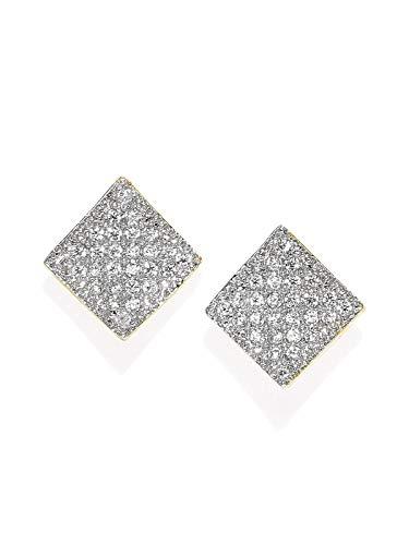 Zaveri Pearls Gold Tone Cubic Zirconia Stud Earring For Women-ZPFK7738