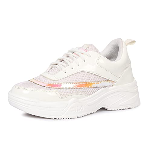 FASHIMO Waking & Running Comfortable Shoes for Women's and Girls KB2-White-40