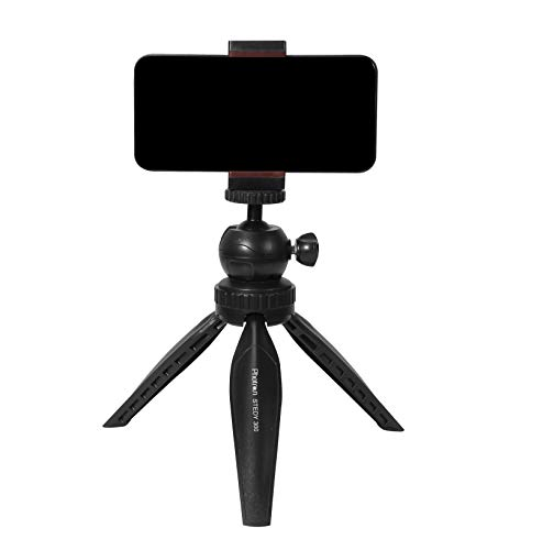 Photron Stedy 300 Mini Tripod Kit with Ball Head Smart-Phone Holder for GoPro | Digital Camera |Travelling | Maximum Operating Height: 165mm | Weight Load Capacity: 1kg, Case Included