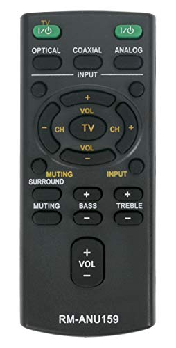 Vinabty New Replaced Lost Remote Rm-anu159 Rmanu159 Fit for Sony Audio Systems Soundbar Models Htct60 Ht-ct60 Sa-ct60 Sact60