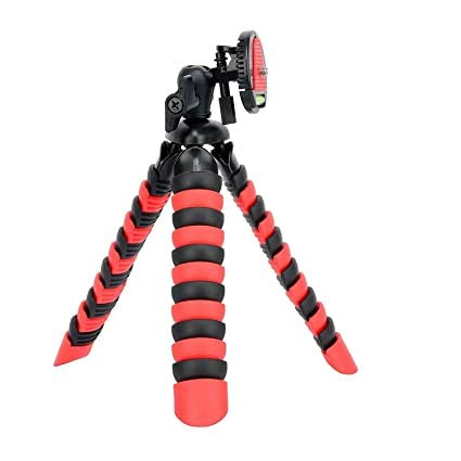"XGMO® Fish Tripod 12"" Inch Flexible Foldable Extra Thick & Strong Compatible with All Smartphone, Action & DSLR Camera's Use for Photography, Video Recording Tiktok YouTube etc.- (R Black)"