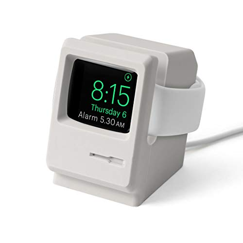 DailyObjects Retro PC - Night Stand Dock Designed for Apple Watch - Off White