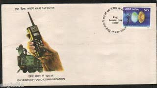Sams Shopping First Day Cover 17 May.'95 100 Years of Radio Communication.(FDC-1995)