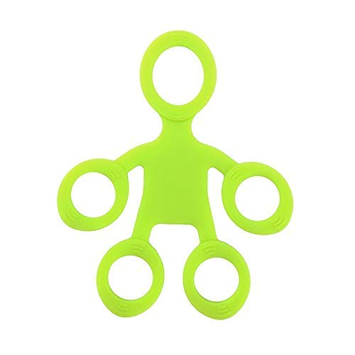 3NH® Finger Hand Grip Silicone Ring Gripper Strengthener Exerciser Trainer Resistance Band Fitness Expander Stretcher 3 Levels Color Green-Light