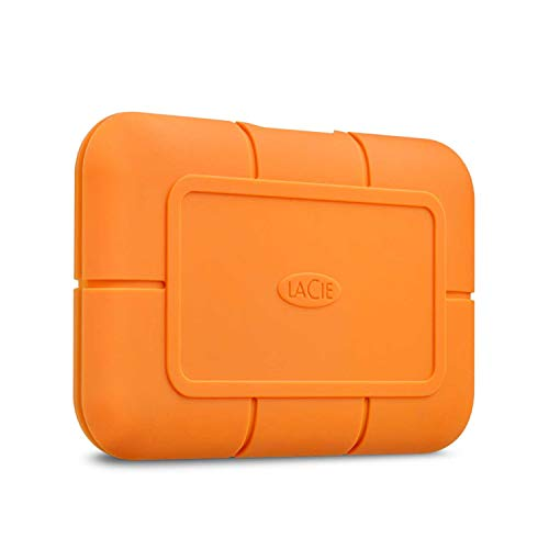 LaCie Rugged 500GB External SSD — USB-C USB 3.0 Thunderbolt 3 for Windows and Mac, 5 yr Data Recovery Services, Drop Shock Dust Water Resistant, Solid State Drive with 1 Mo Adobe CC (STHR500800)