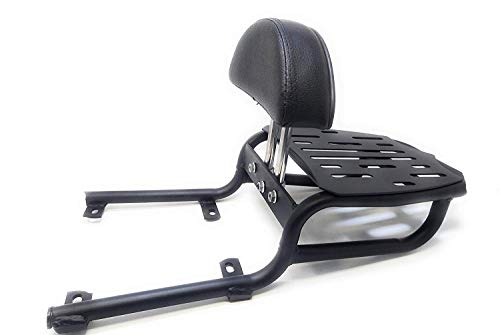 Motorola Spidy Moto Adjustable Cushion Backrest with Carrier for Royal Enfield Thunderbird 350,500,350x,500x