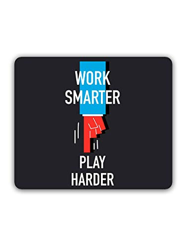 Madanyu Designer Mousepad Non-Slip Rubber Base for Gamers - HD Print - Work Smarter Play Harder