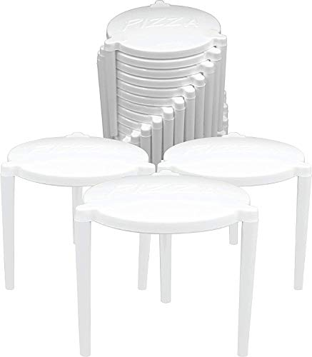 IR Equipment Tripod Pizza Saver/Pizza Stool, Pack of 100 Pieces/White, 2x2 inch