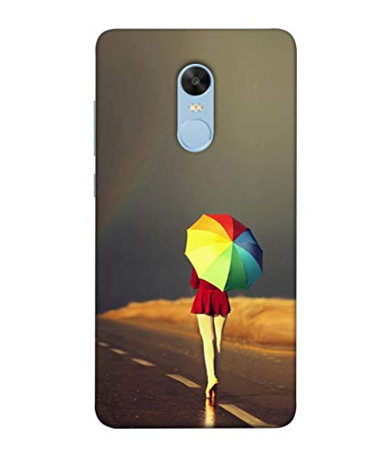 S SMARTY Designer Printed Plastic Mobile Back Case Cover for Redmi Note 4 (Rainbow Umbrella)