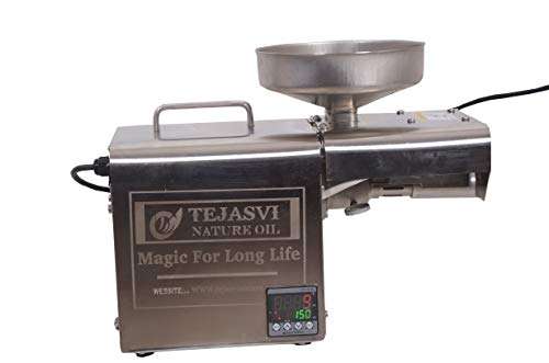 TEJASVI NATURE TN-03 Stainless Steel Fully Automatic Edible Oil Maker Press Machine for Home Use