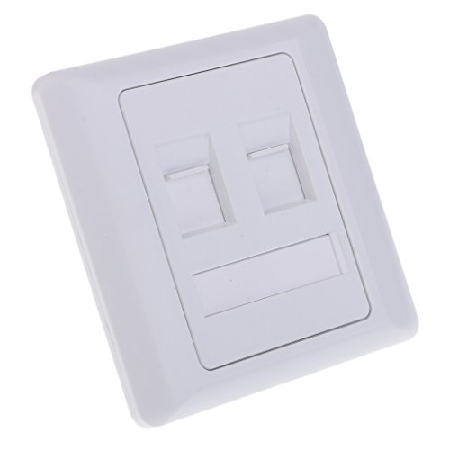 Global Mantra RJ45 Network 2 Ports Wall Outlet CAT5e Mounted Plate