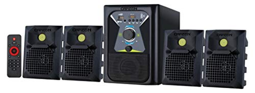 Capicon Multimedia Home Theater with FM,USB,AUX and Bluetooth Function (Model- Capicon Green Dot_Black)
