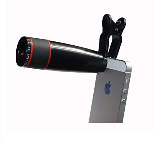 KONARRK 12X Zoom Mobile Phone Telescope Lens with Adjustable Clip Mobile Phone Lens Compatible for Oppo F5 Youth