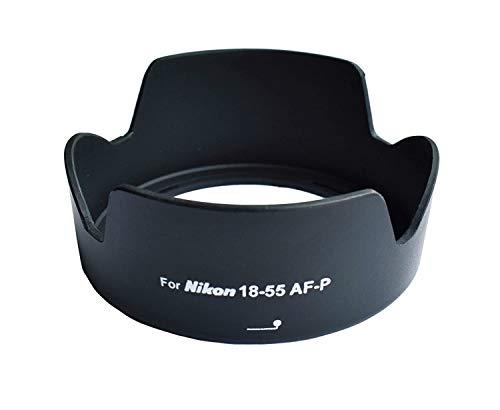 Omax Lens Hood for Nikon d3300/d5300 af-p 18-55mm vr Lens (Bayonet Type Lens Hood)