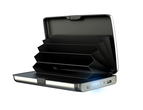 Glive Give's E-Charge Business Card, ATM Card, Credit Card Wallet Holder with Inbuilt Power Bank for Charge Mobile Phone