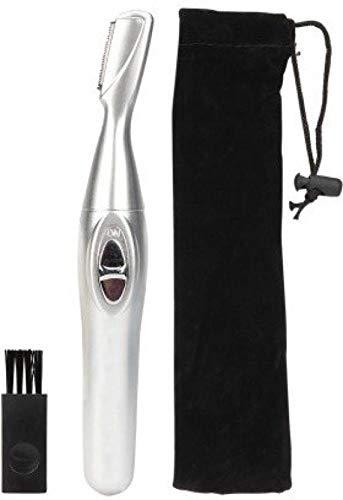 Frackkon Hair Remover & Trimmer for Women Hair Remover Trimmer Eyebrow Hair Remover Shaver for Women (Silver)