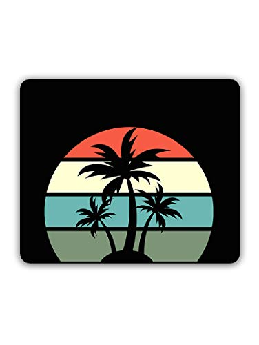 Madanyu Designer Mousepad Non-Slip Rubber Base for Gamers - HD Print - Beach Palm Tree